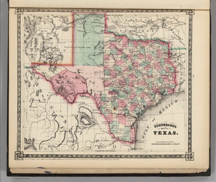 Schonberg s Map of Texas    David Rumsey Historical Map Collection Schonberg s Map of Texas