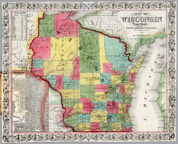 Wisconsin   David Rumsey Historical Map Collection Wisconsin