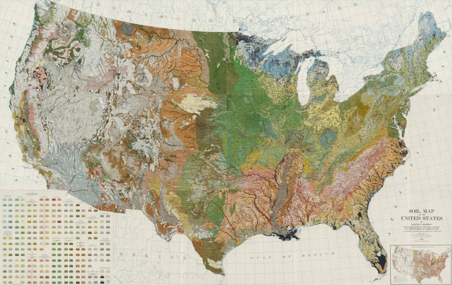 Composite  Soil Map of the United States  Atlas of American     Composite  Soil Map of the United States  Atlas of American Agriculture