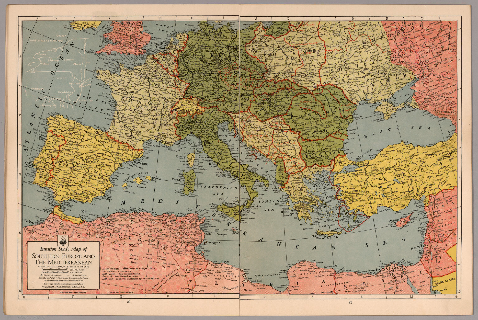 Invasion Study map of Southern Europe and Mediterranean   David     Invasion Study map of Southern Europe and Mediterranean