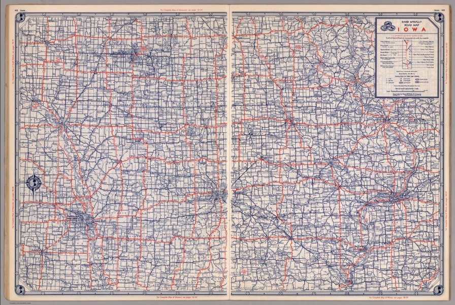 Road map of Iowa   David Rumsey Historical Map Collection Road map of Iowa