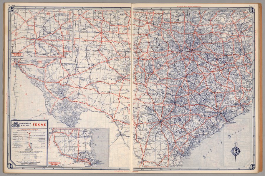 Road map of Texas   David Rumsey Historical Map Collection Road map of Texas