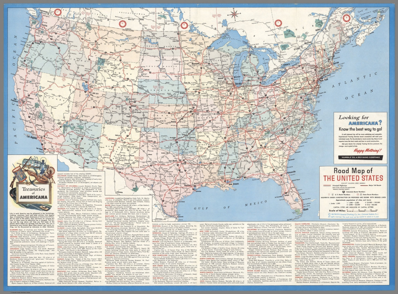 Road map of the United States  Except Alaska and Hawaii  MCMLXII     Road map of the United States  Except Alaska and Hawaii  MCMLXII  1962