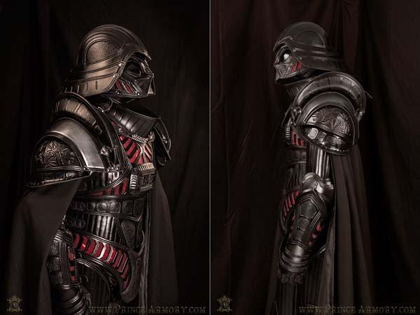 The Medieval Darth Vader Armor Made From Premium Leather Gadgetsin