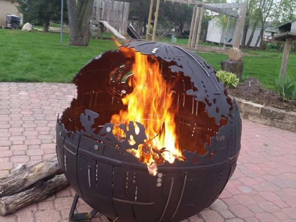 Awesome Star Wars Death Star Steel Fire Pit Gadgetsin