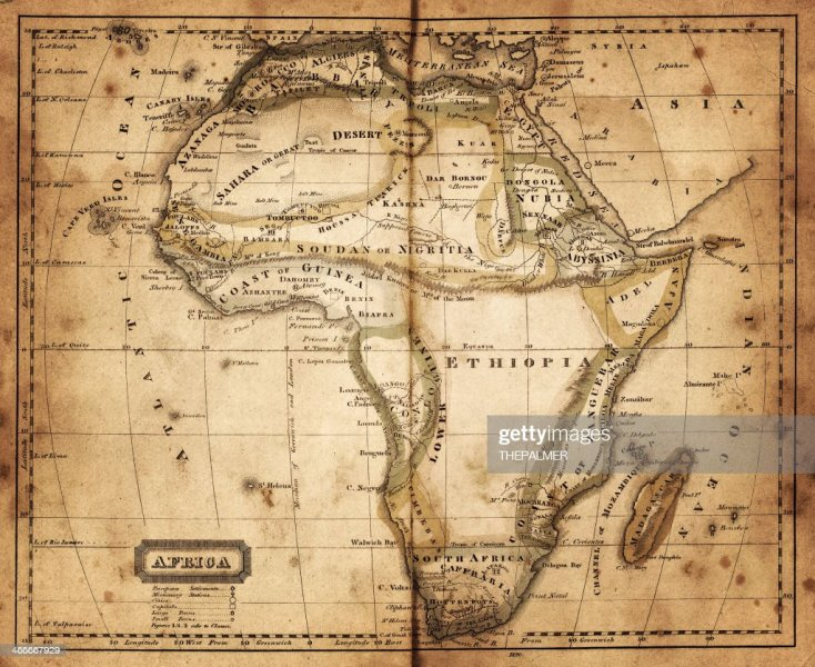 Map Of Africa 1820 Stock Illustration   Getty Images map of africa 1820   Stock Illustration