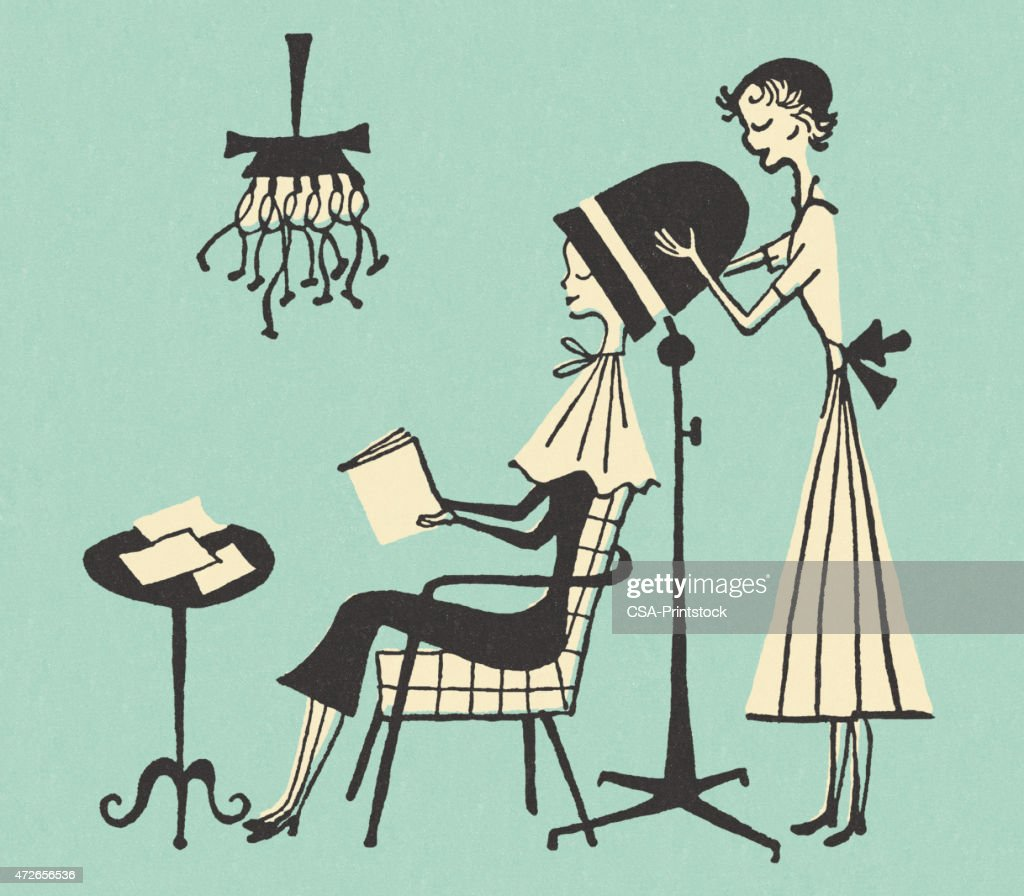 Done Hair Woman Getting Parlor Beauty