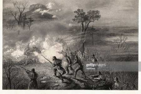 Ops Lookout Band Jpg Battle Of Mountain Art Fine America Wood Prints Vintage Americana Color Lithography