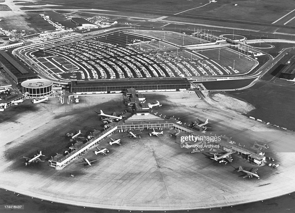 Aerial View Of The American Airlines Terminal At O Hare