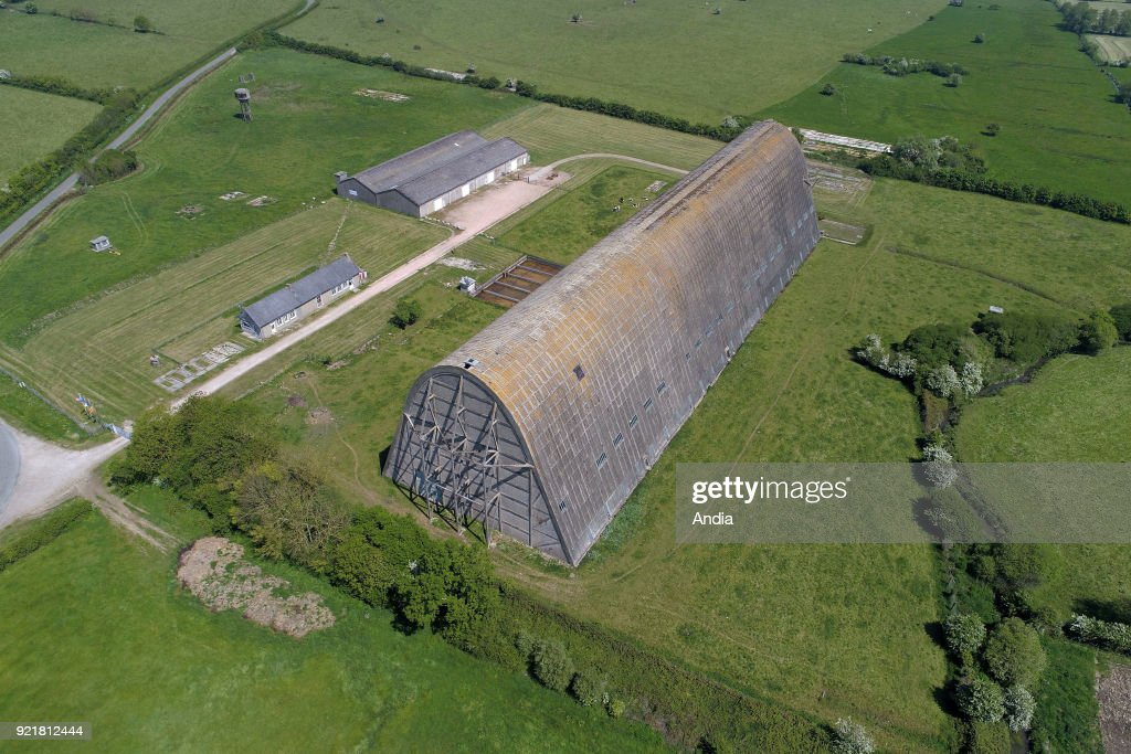 Ecausseville  the airship hangar  Pictures   Getty Images Aerial view of the Ecausseville Airship Hangar  Built in 1919  this huge  building is
