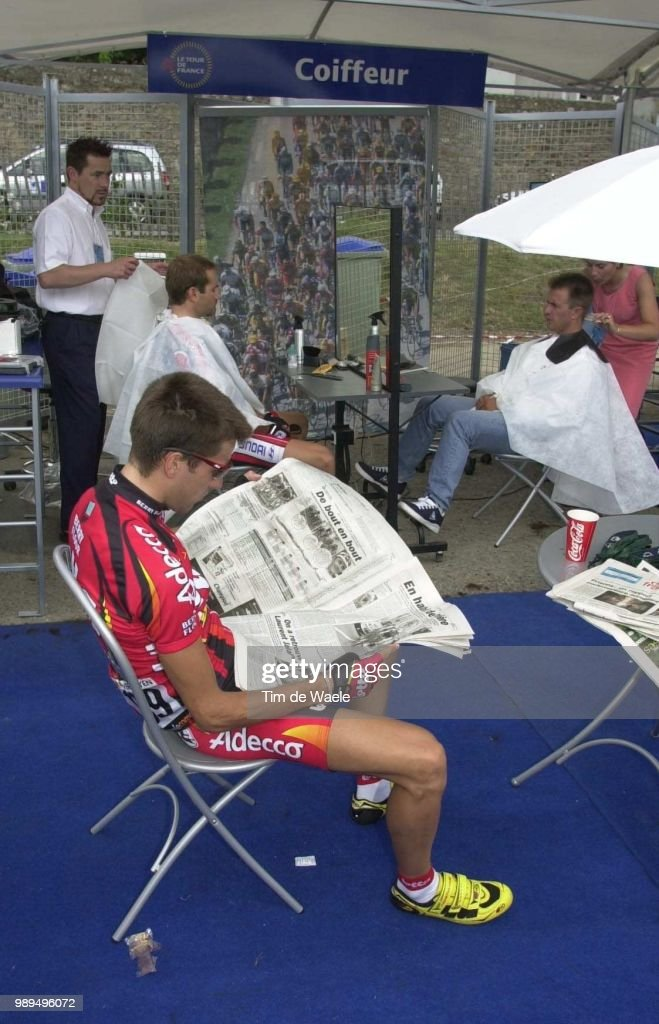 Cycling Tour De France 2000Verheyen Geert Coiffeu Pictures   Getty     Cycling Tour De France 2000Verheyen Geert Coiffeur Kaper Etape 5Vannes Vitre  Cyclisme Wielrennen Cyclingtdf Iso Sport