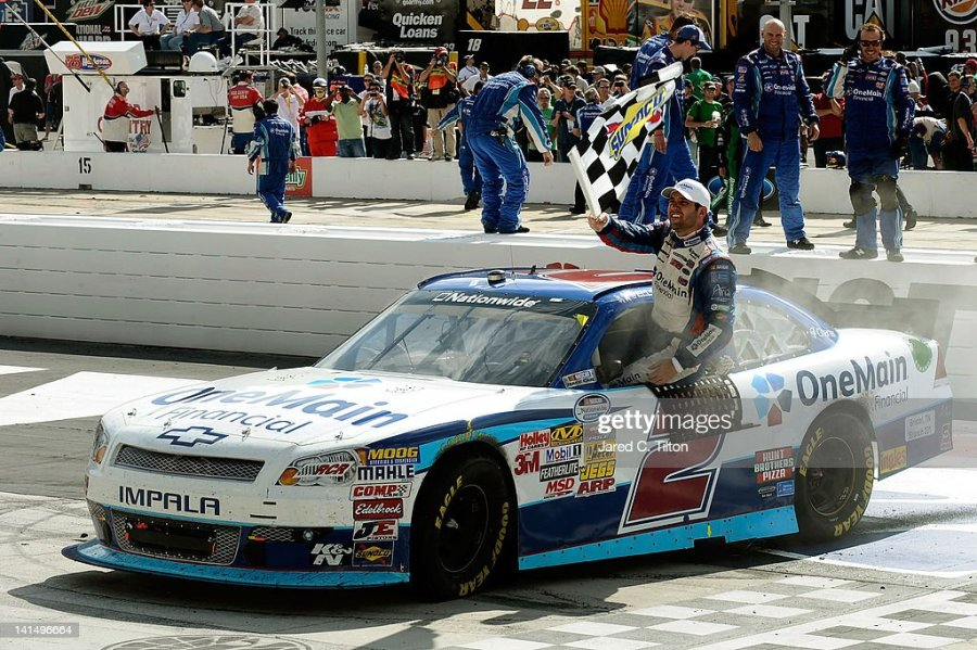 Onemain Chevrolet Stock Photos and Pictures   Getty Images Elliott Sadler driver of the OneMain Financial Chevrolet celebrates after  winning the NASCAR Nationwide Series Ford