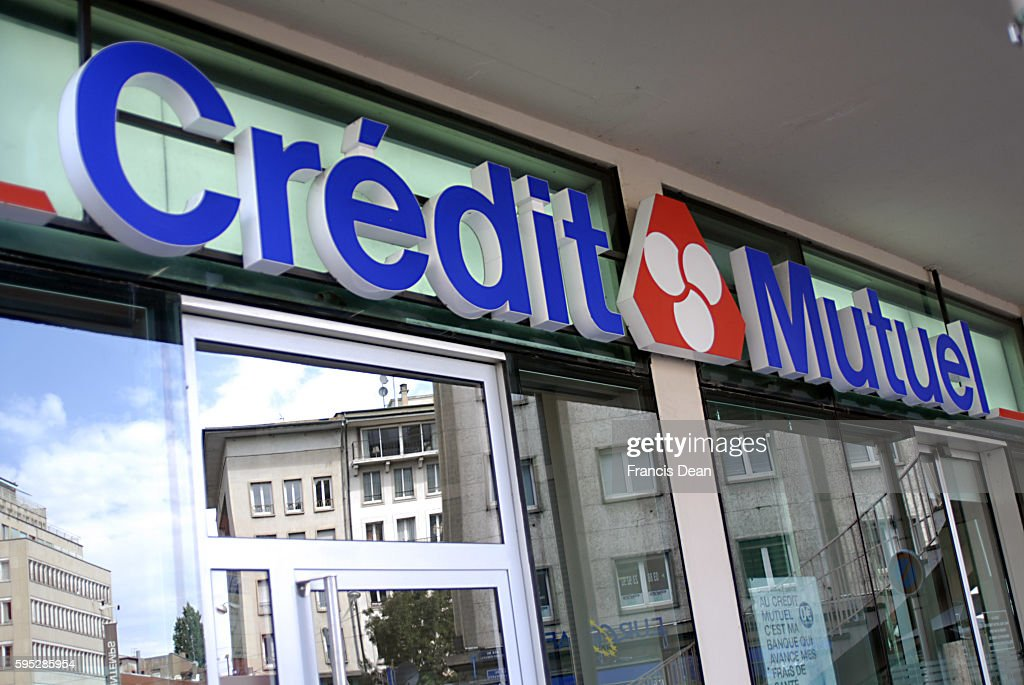 Credit mutuel banking in Strasboug France Pictures   Getty Images French Credit Mutuel bank 11 August 2011