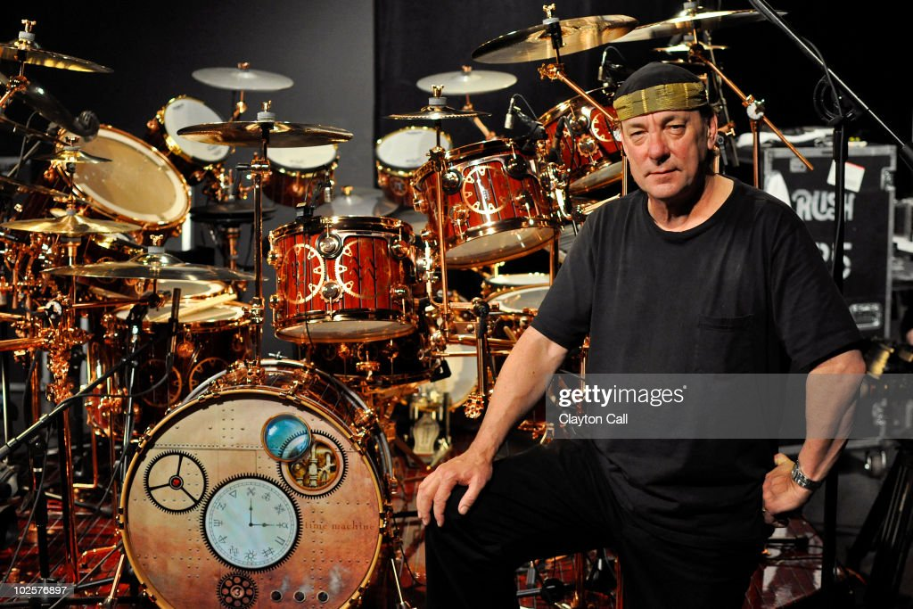 Neil Peart Drum Portraits Pictures   Getty Images Neil Peart of Rush poses for a portrait with his DW drum kit on the Drum