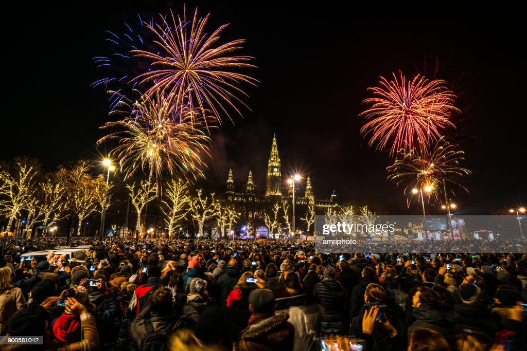 New Year Fireworks In Vienna Stock Photo   Getty Images new year fireworks in Vienna   Stock Photo