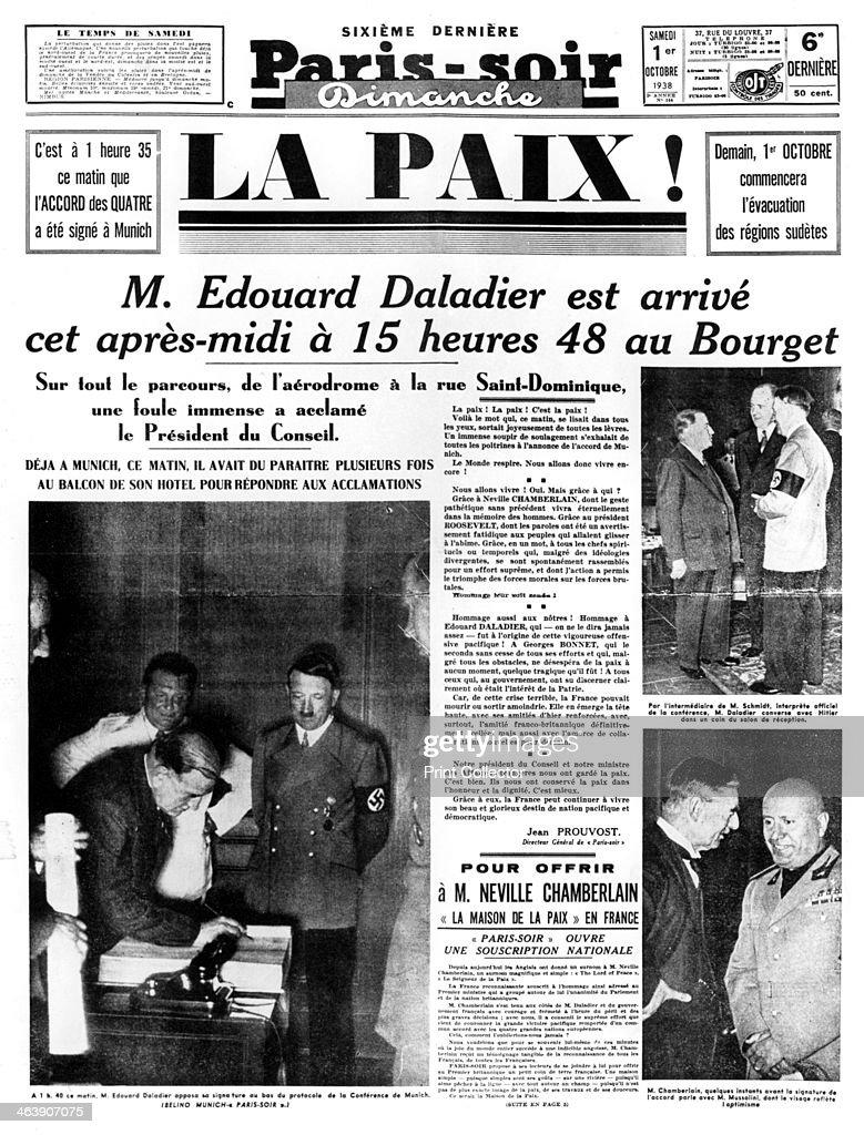 1938 Munich Agreement Newspaper