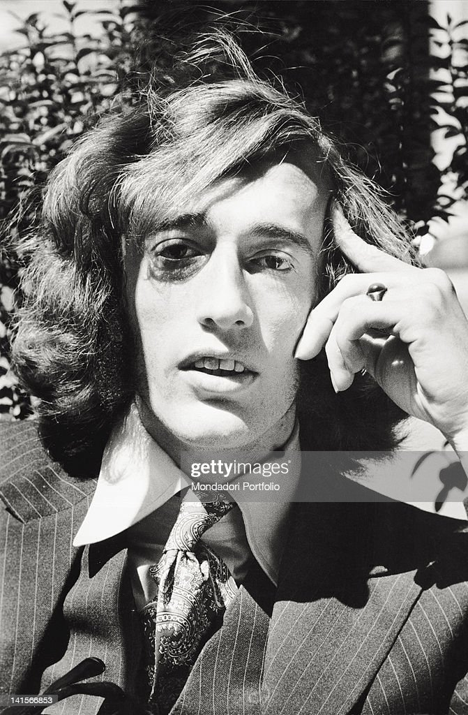Portrait of English musician Robin Gibb. He's the singer ...