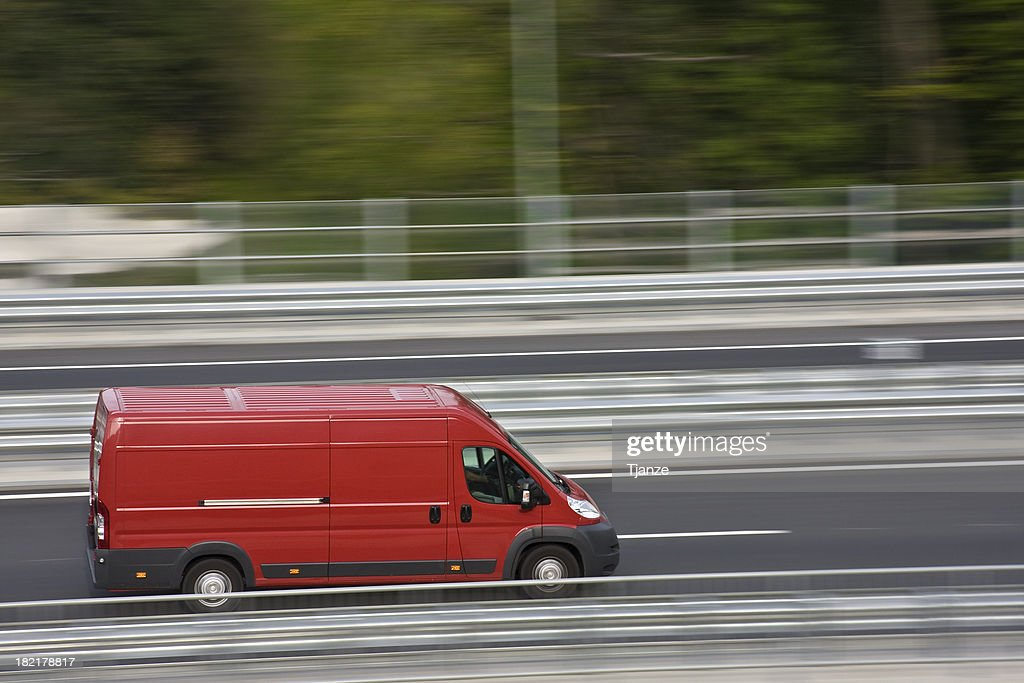 Red Delivery Van Stock Photo   Getty Images