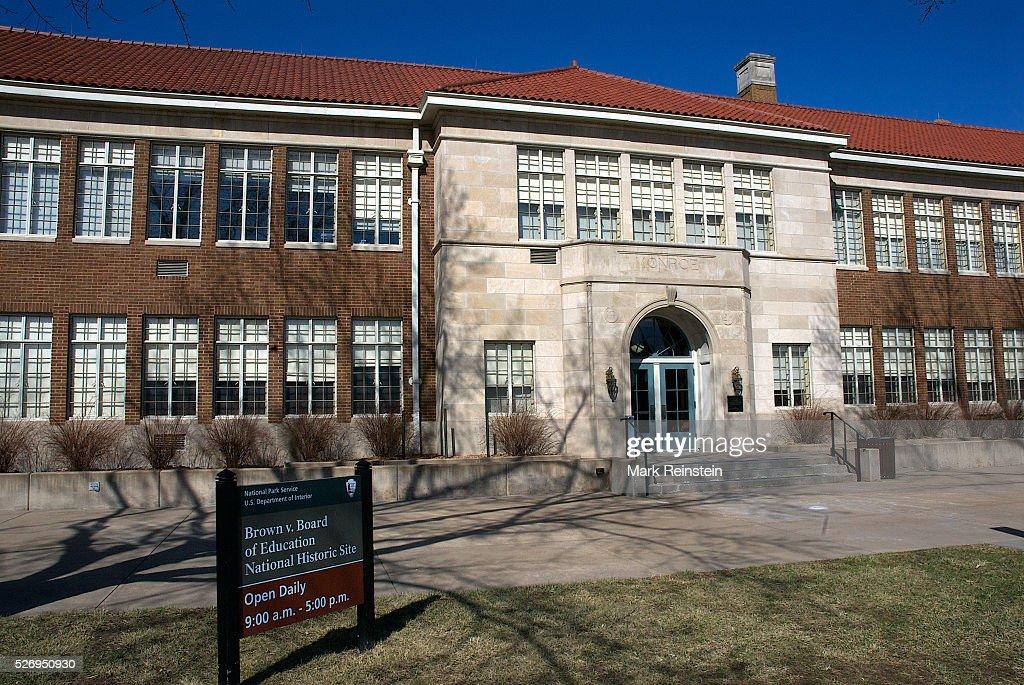 Topeka, Kansas 3-5-2014 The Monroe School historic site of ...