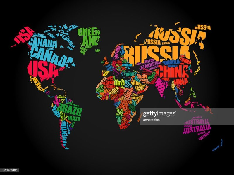 World Map In Typography Word Cloud Stock Photo   Thinkstock World Map in Typography word cloud   Stock Photo