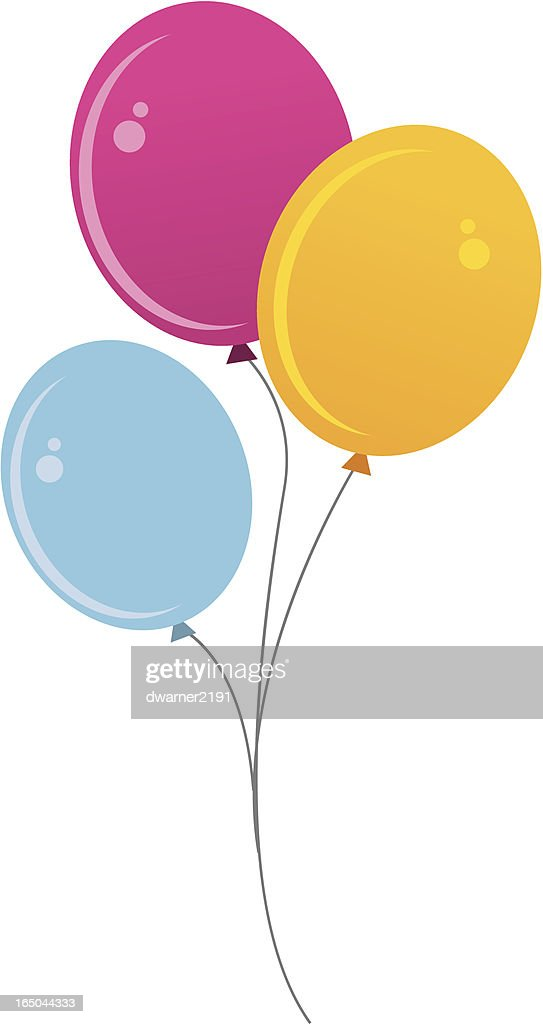 Balloon Black Background Orange