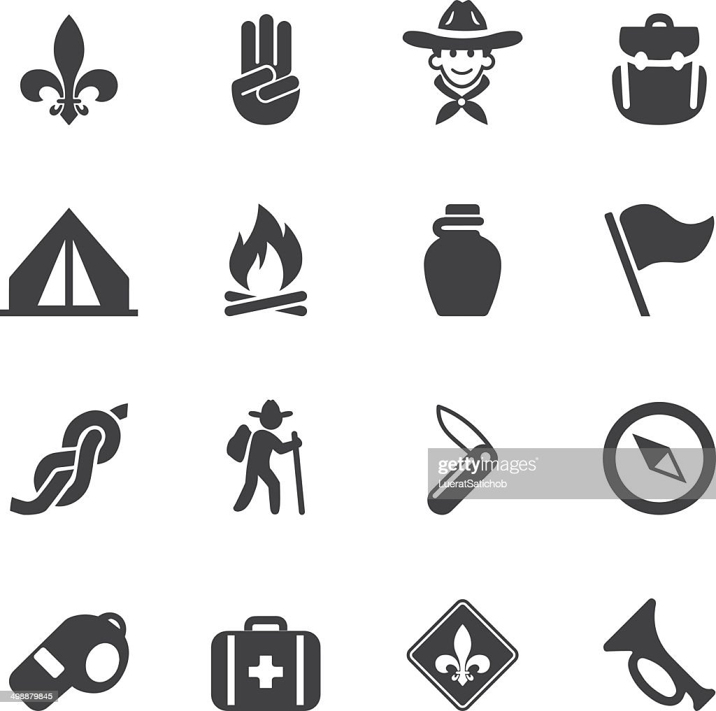 Boy Scout Silhouette Icons Eps10 Vector Art Getty Images