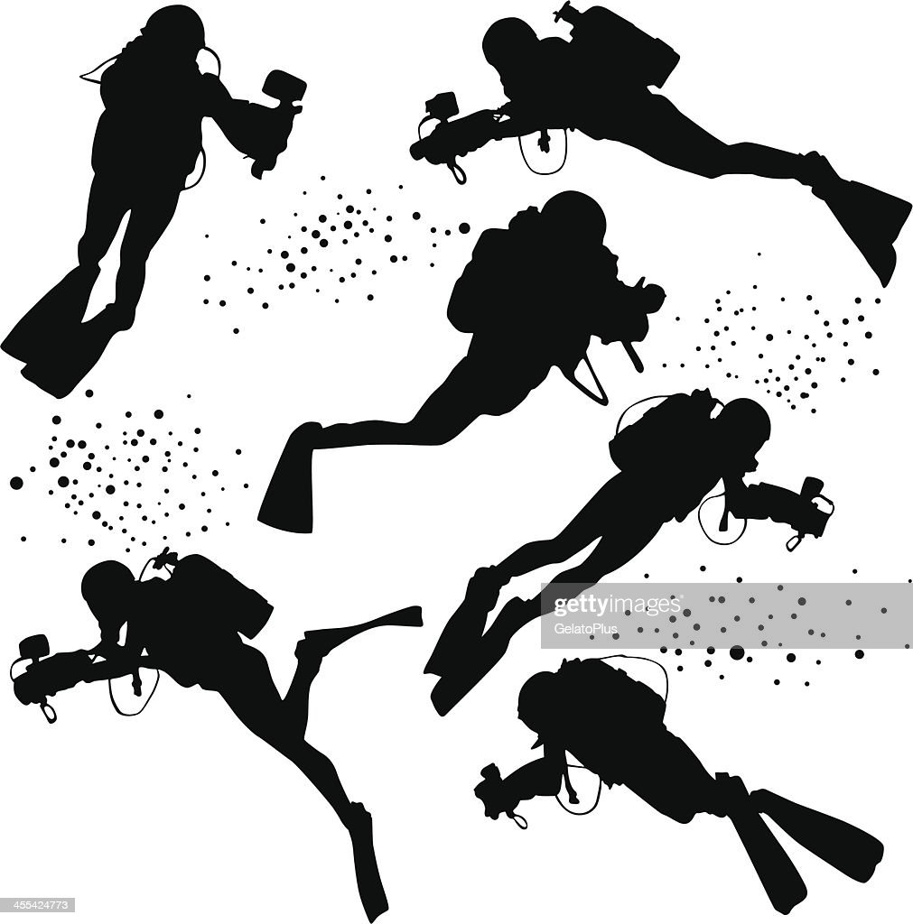 Silhouette Person Diving