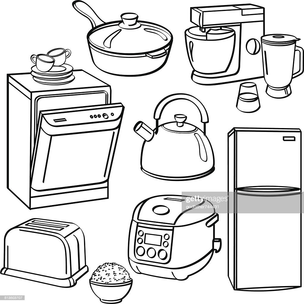 Kitchen utensils and appliances vector art thinkstock rh thinkstockphotos ae diagram dissection equipment cctv equipment diagram