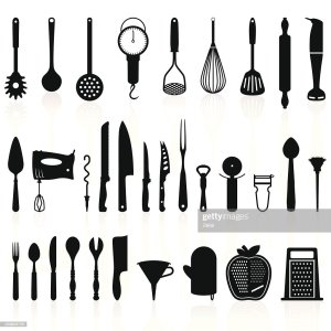 kitchen utensils silhouette vector free. Cooking Utensils Free Vector Kitchen Health Check Guide Lucy Bee Blog About Work Background Cook Utensil Icons Cartoon Sketch Silhouette