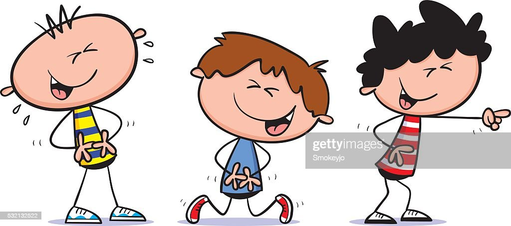 Laughing Boys Vector Art | Getty Images