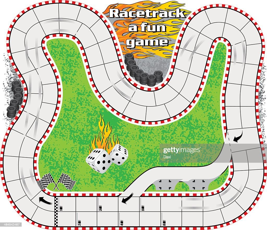 Game Board Track Race Template