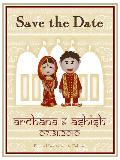 Date Theme Save Indian Cards