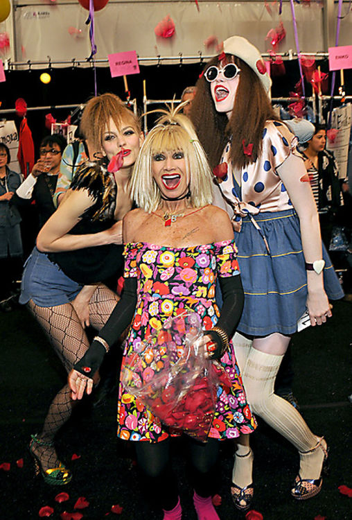 Daily Style Phile Betsey Johnson Cartwheels Her Way Into