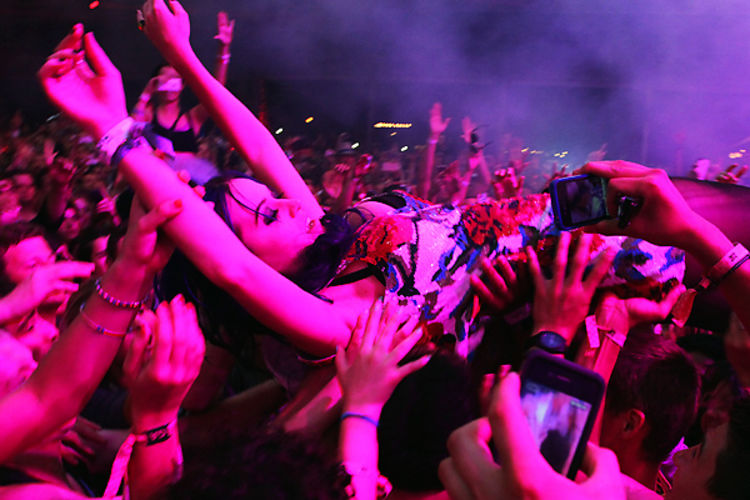 Katy Perry Tickled Crowd Surfing