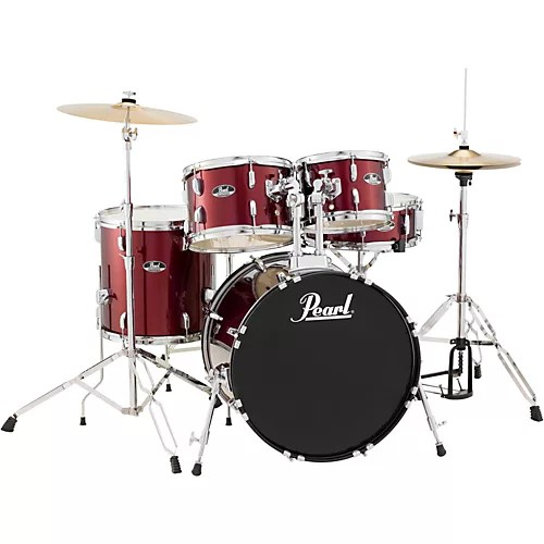 Pearl Roadshow 5 Piece Fusion Drum Set   Guitar Center Pearl Roadshow 5 Piece Fusion Drum Set
