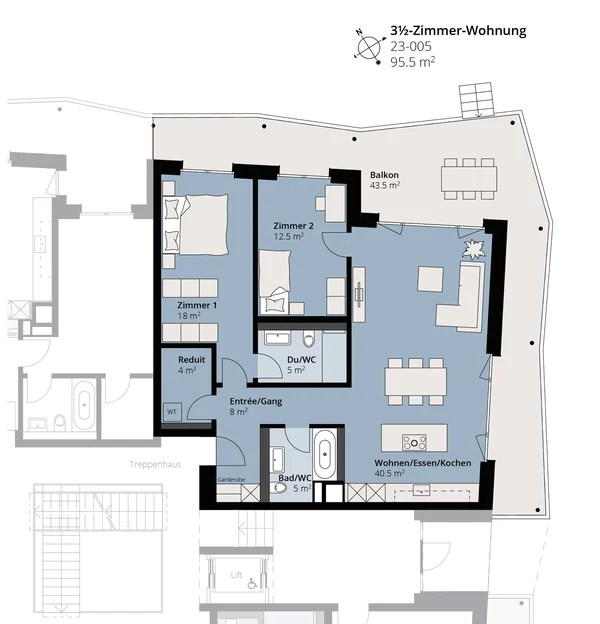 Erstvermietung - schöne 3½-Zimmer-Wohnung 'neumatt-stein.ch', Stein