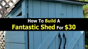 How To Build A Fantastic Shed For $30