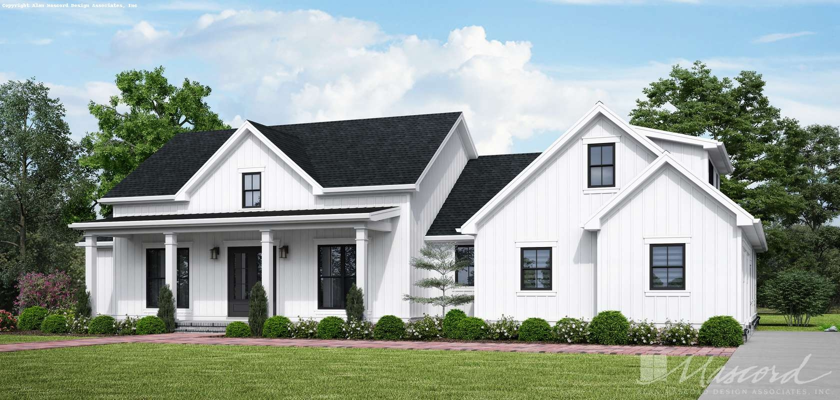 Contemporary House Plan 1262 The Birch Wood Farm 2508 Sqft 3 | House Design With Stairs In Front | Village | Front Yard Stair | Unique | Elevated | Wood