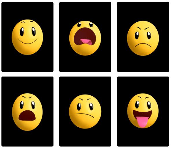 animated moving emojis - 595×514