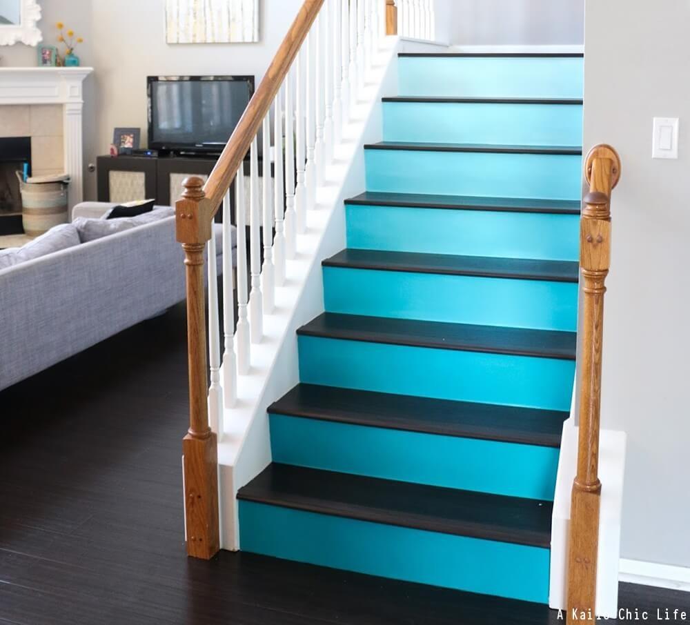 Stair Riser Ideas Decorative Stair Risers Stair Risers | Painted Risers On Stairs | Flair | Painting | Stained | Basement | Hardwood