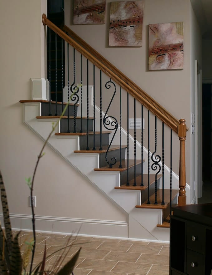 2020 Wood Stairs Installation Cost Repair Wood Stairs | Staircase Contractor Near Me | Basement Stairs | Stair Case | Stair Parts | Yelp | Stamped Concrete