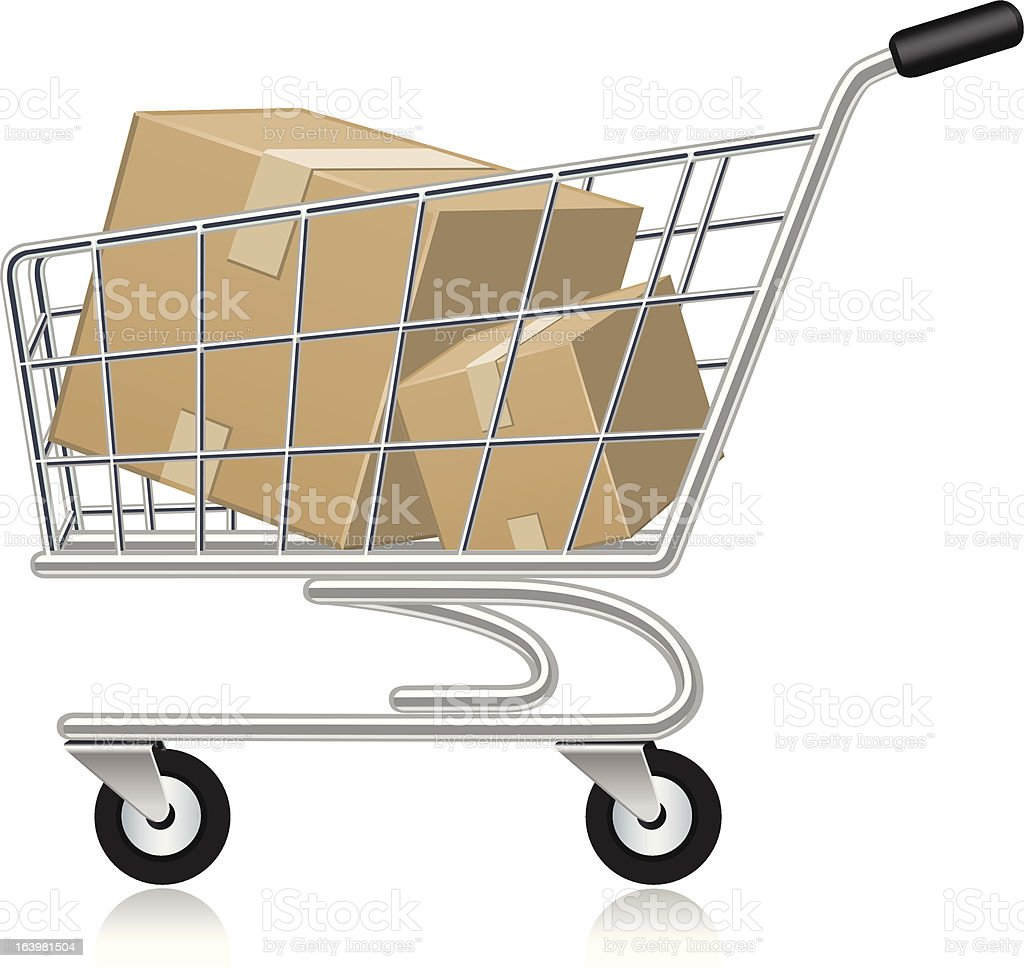 Top Overflowing Shopping Cart Clip Art, Vector Graphics ...