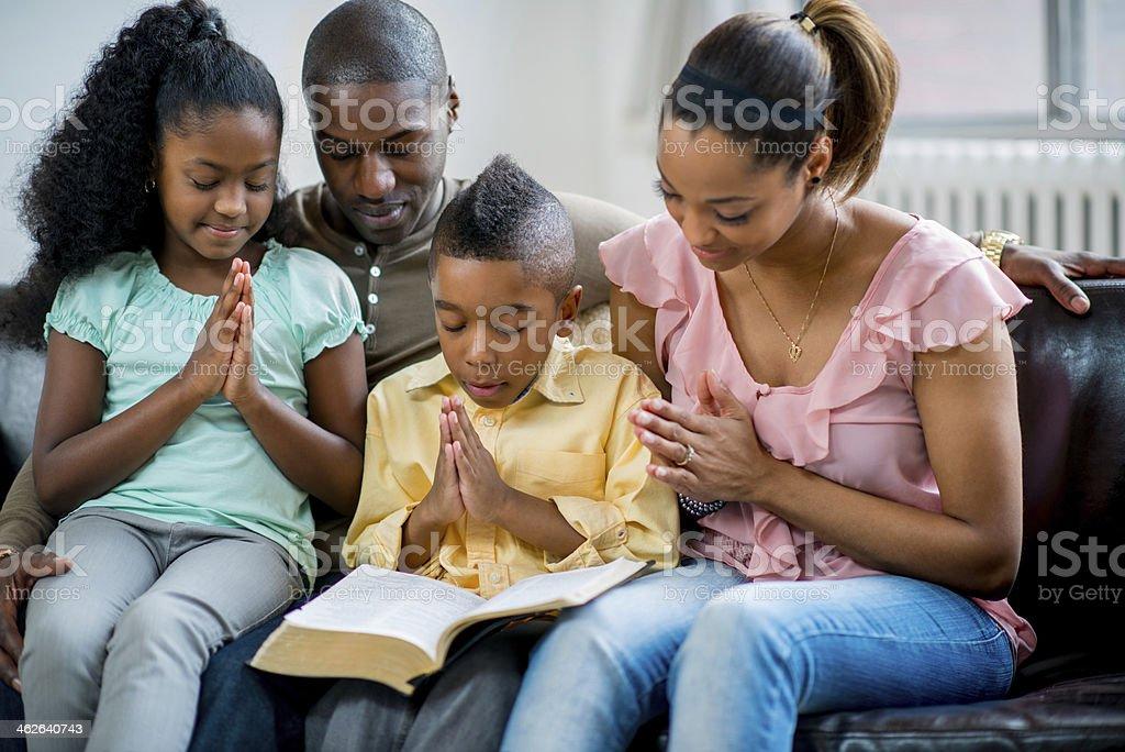 Black Family Praying Together Stock Photo - Download Image ...