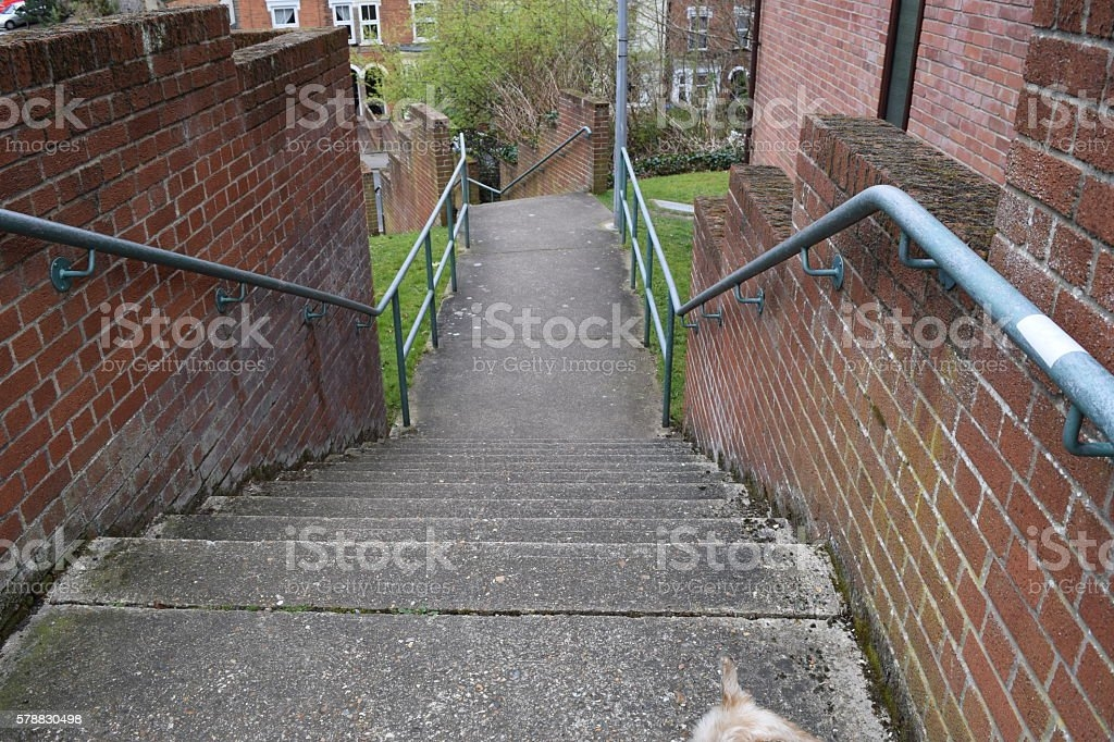 Concrete External Outside Stairs Steps Stock Photo Download   Metal Steps For Outside   Loading Dock   Covered   Round   Easy   Outdoors