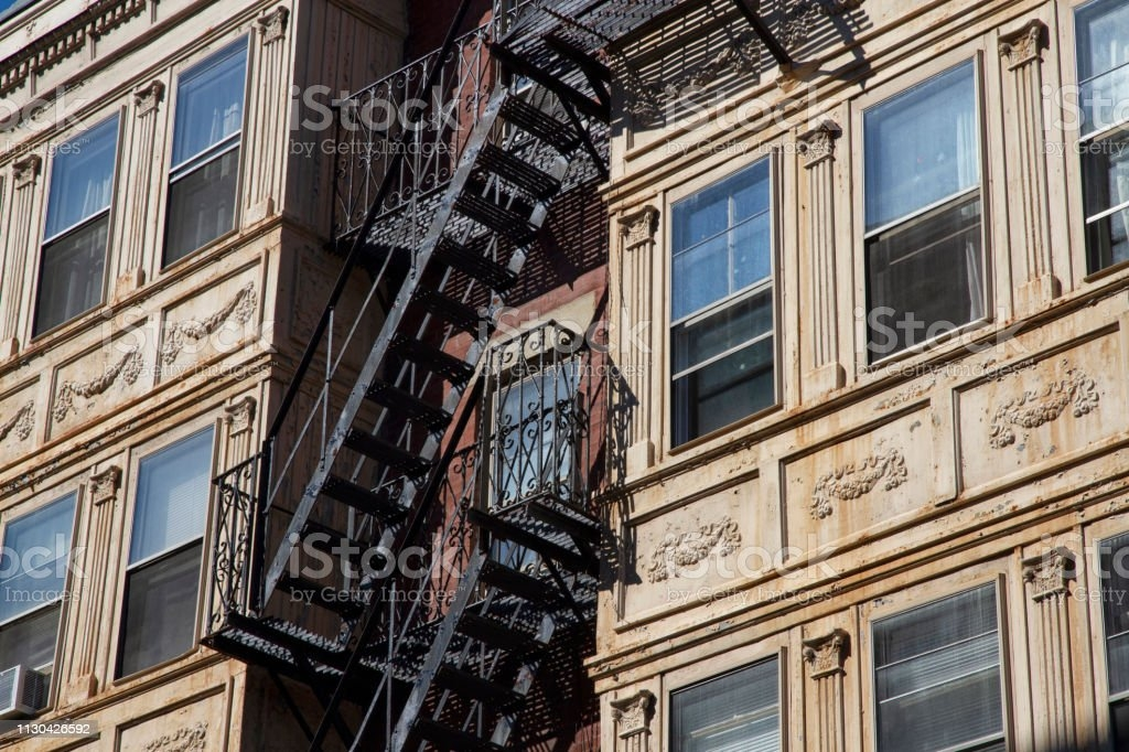 Fire Escape Stairsdowntown Back Alley Architecturesteel Stock   Steel Fire Escape Stairs   Architectural   Internal   Industrial   Emergency   Fire Exit