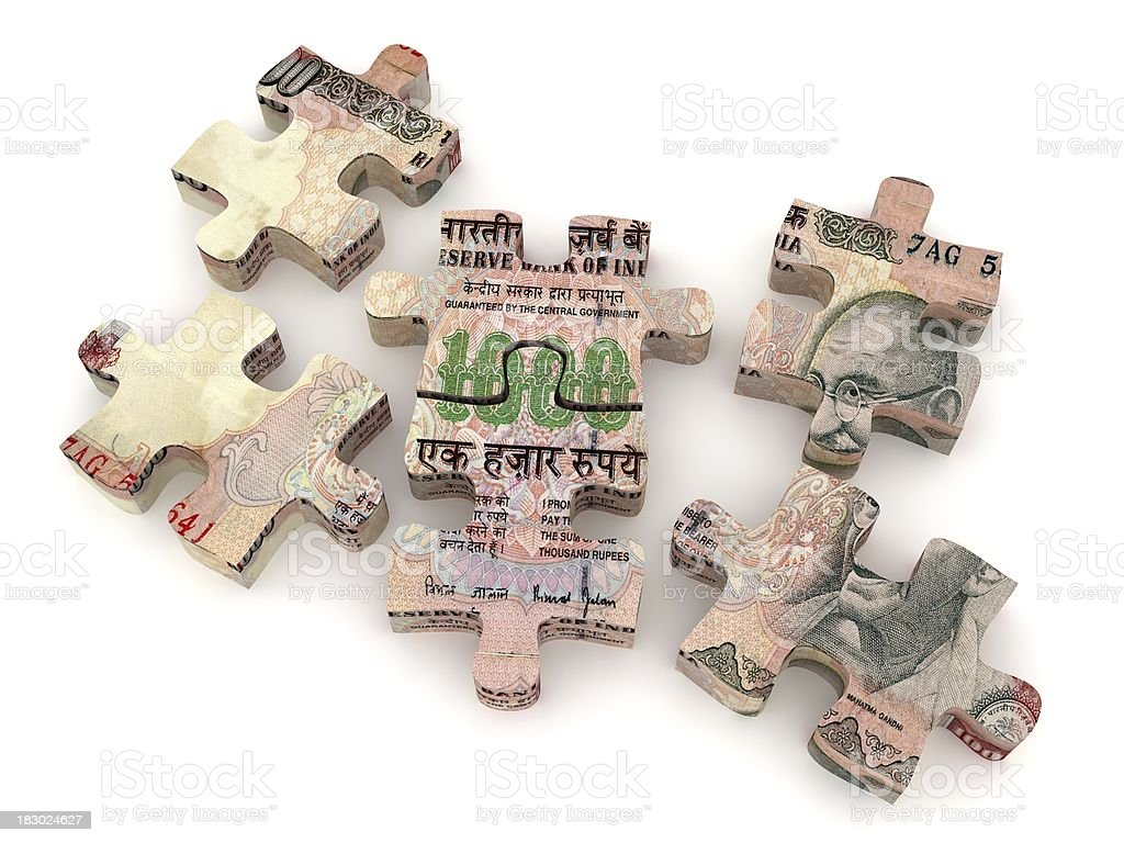 Indian Rupee Puzzle Stock Photo & More Pictures of ...