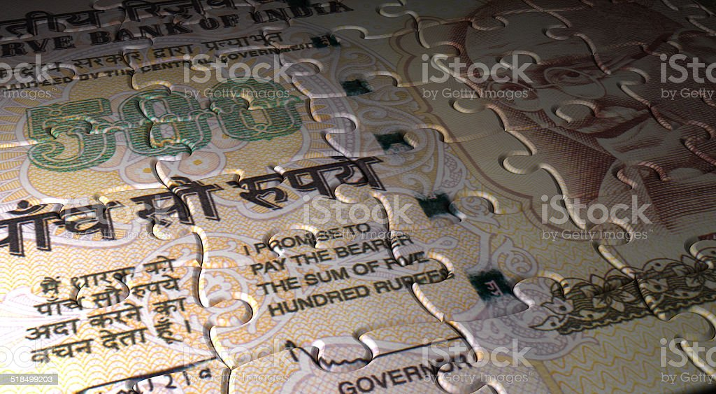Indian Rupee Puzzle Stock Photo & More Pictures of Bank ...
