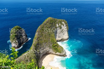 Kelingking Beach In Nusa Penida Island Bali Stock Photo ...