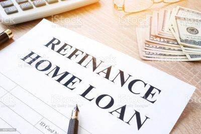 Refinance Home Loan Application On A Desk Stock Photo ...