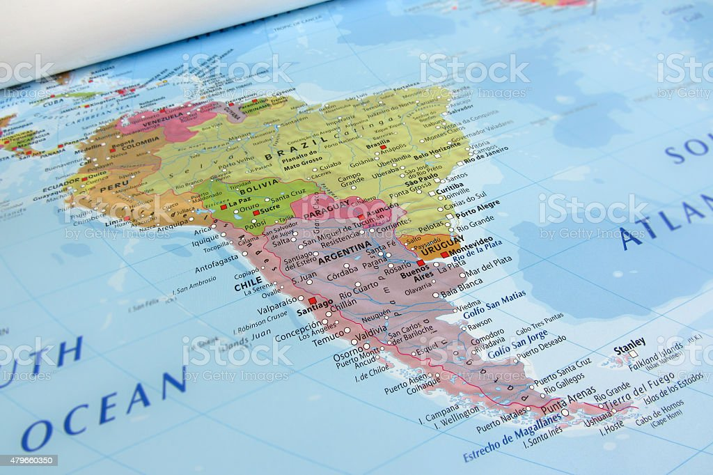 download Vivid South America map design